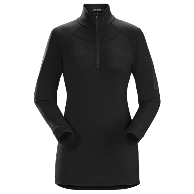 Cheap Arc'teryx SATORO AR ZIP NECK SHIRT LS WOMEN'S Black Sale