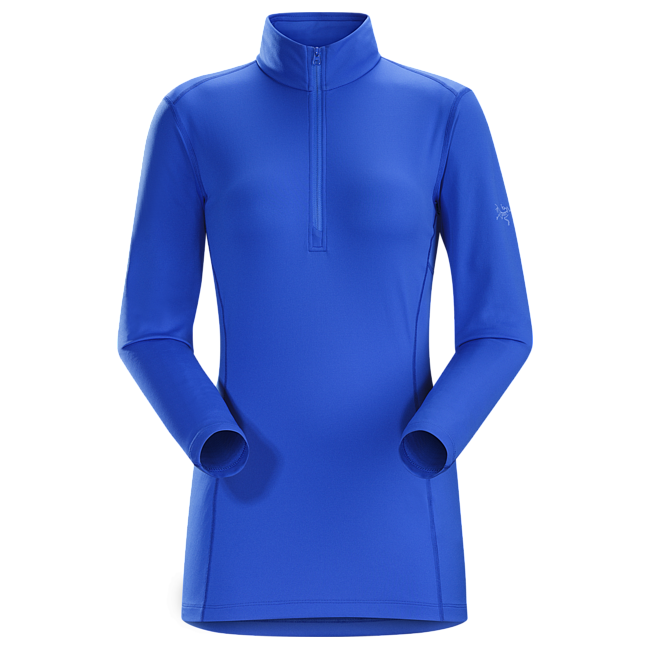 Cheap Arc'teryx PHASE AR ZIP NECK LS WOMEN'S Island Blue Sale