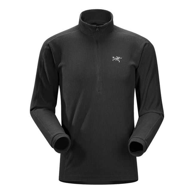 Cheap Arc'teryx DELTA LT ZIP NECK MEN'S Black Sale