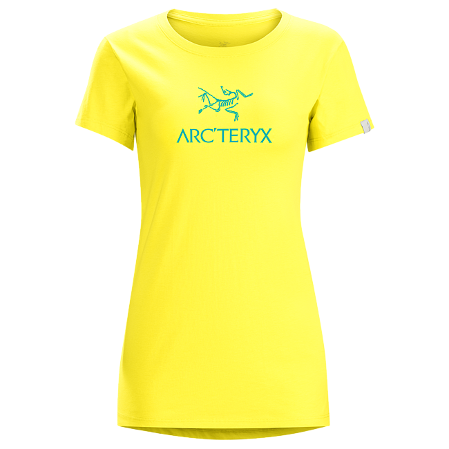 Cheap Arc\'teryx ARC\'WORD T-SHIRT WOMEN\'S SMU-Candied Lemon Sale