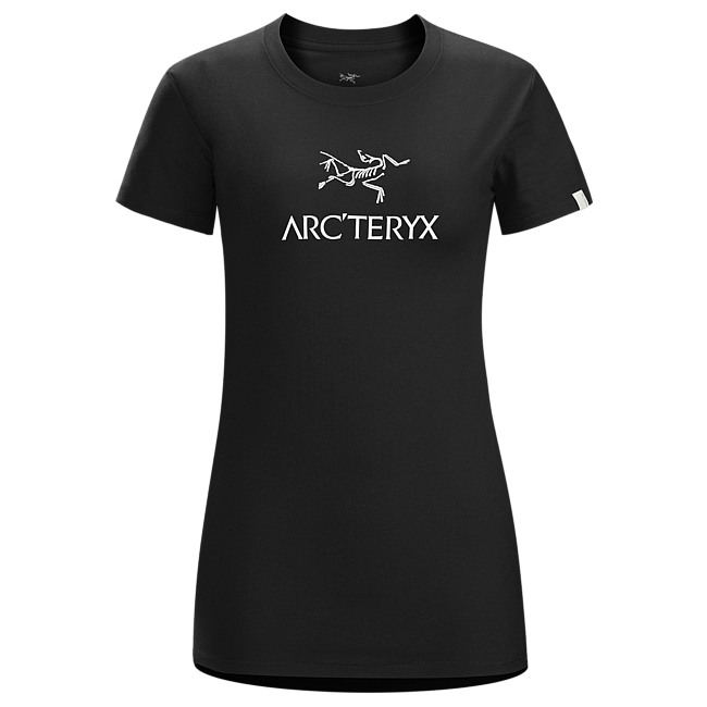 Cheap Arc'teryx ARC'WORD T-SHIRT WOMEN'S BLACK/​WHITE Sale